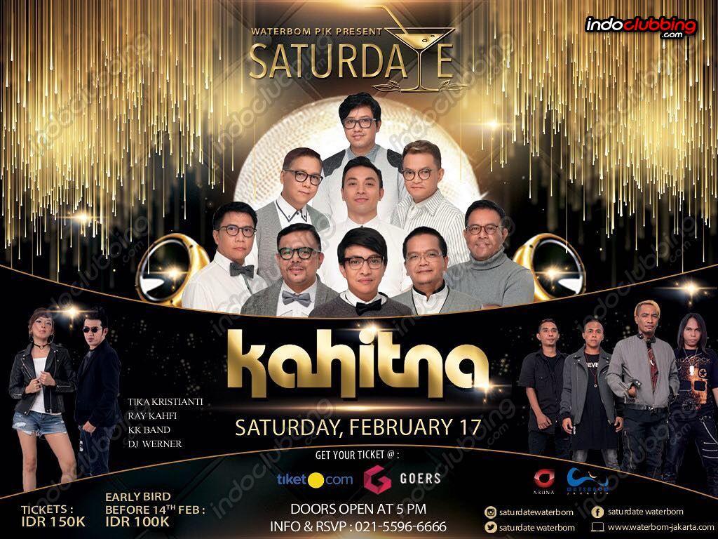Event Kahitna Waterbom Jakarta Sat 17 Feb 2018 Voucer Utara