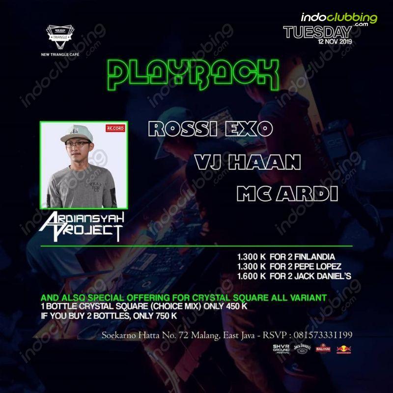 Event Playback Triangle Cafe Malang Tue 12 Nov 2019 Indoclubbing Com