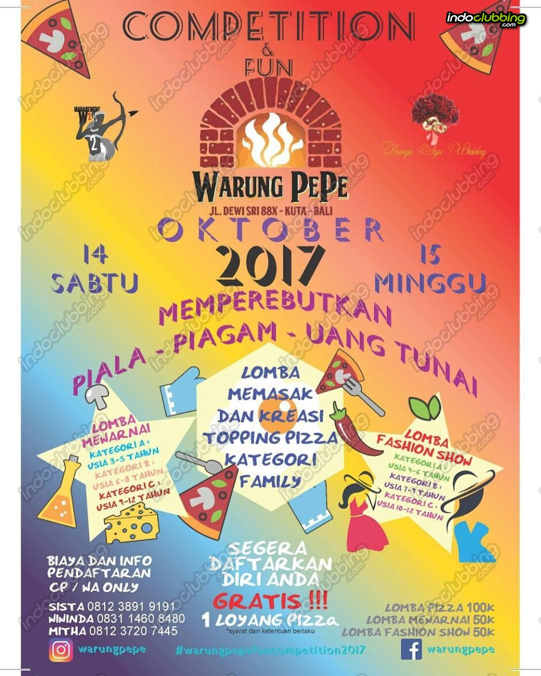 Event Petition & Fun Warung PePe Bali Sun 15 Oct