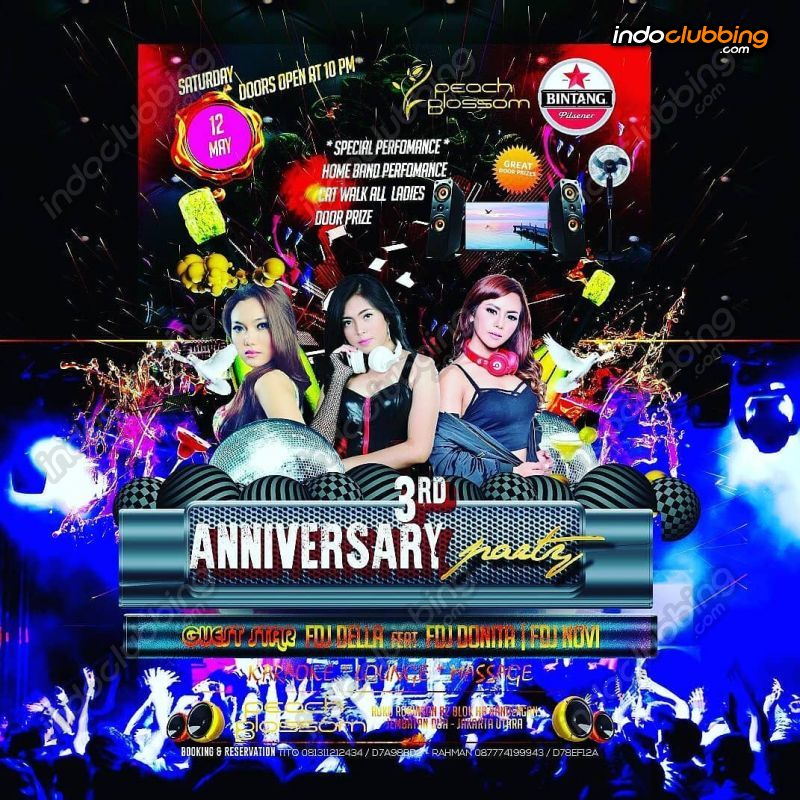 Event : 3rd Anniversary @ Peach Blossom (Jakarta) - Sat 12