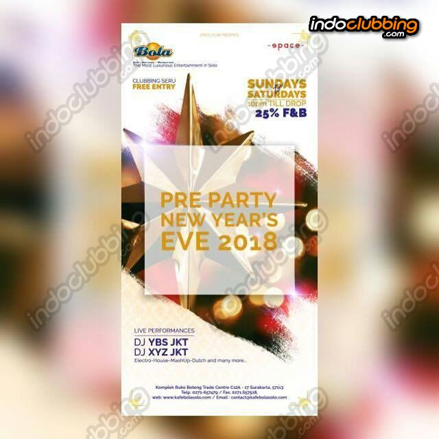 pre party new years eve 2018