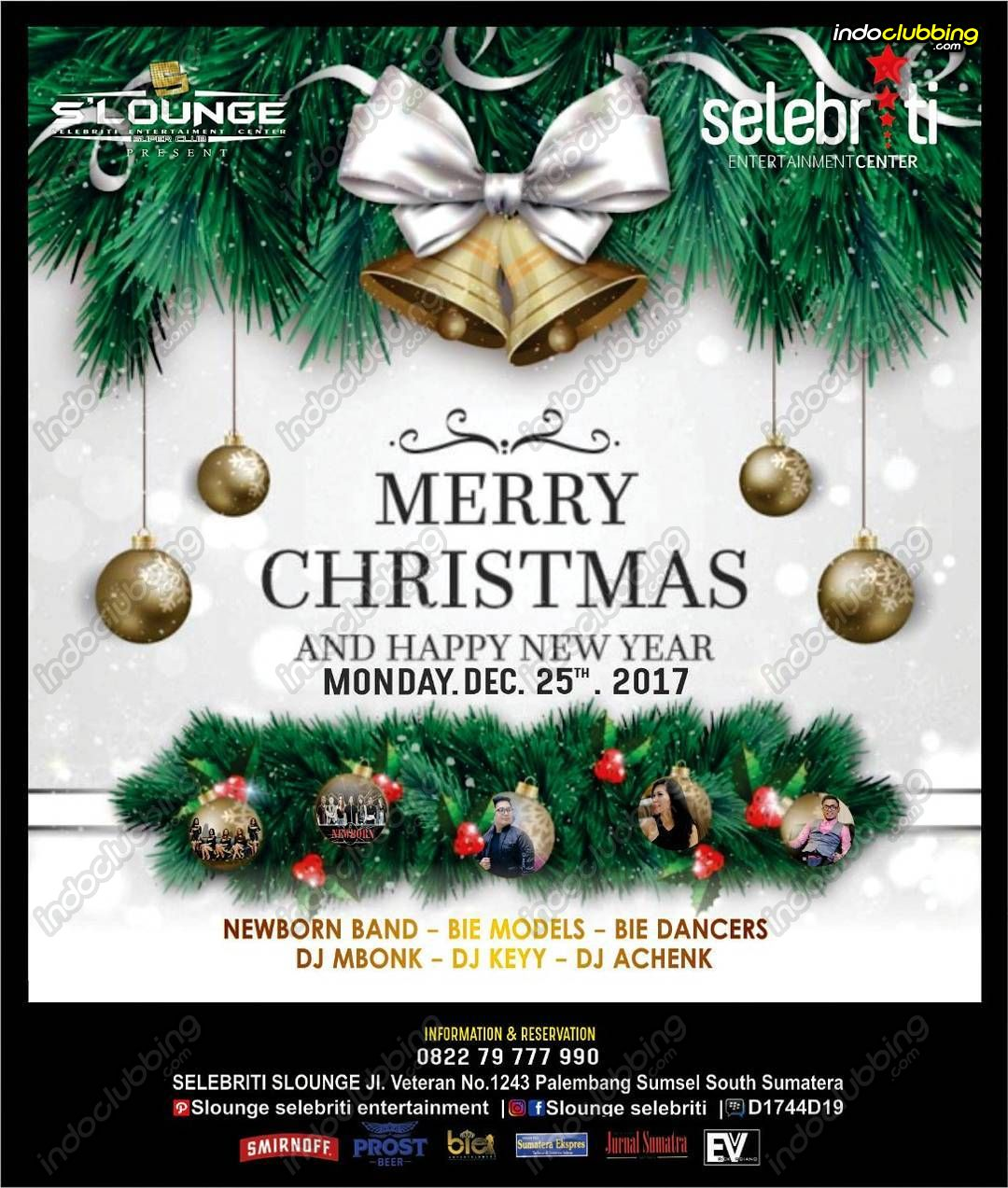 event : merry christmas @ s'lounge (palembang) - mon 25 dec 2017
