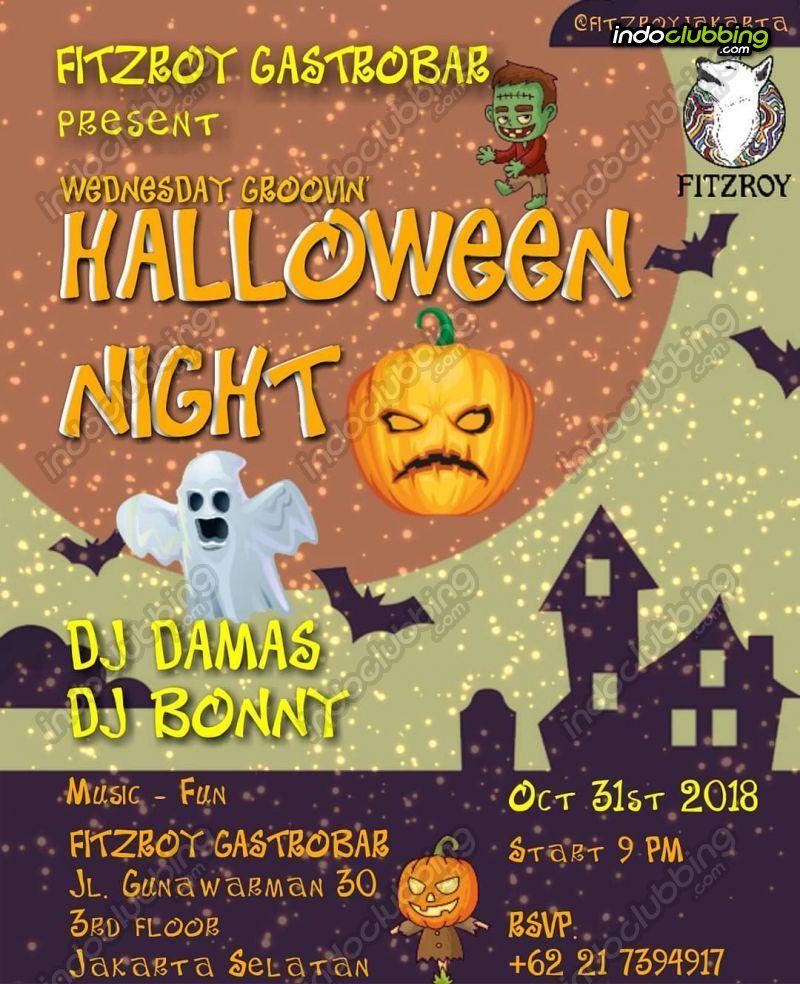 event : halloween night @ fitzroy gastrobar (jakarta) - wed 31 oct