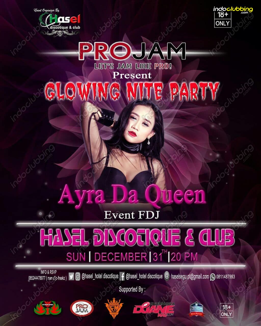 Event : Glowing Nite Party @ Hasel Discotique (Jayapura) - Sun 31 ...