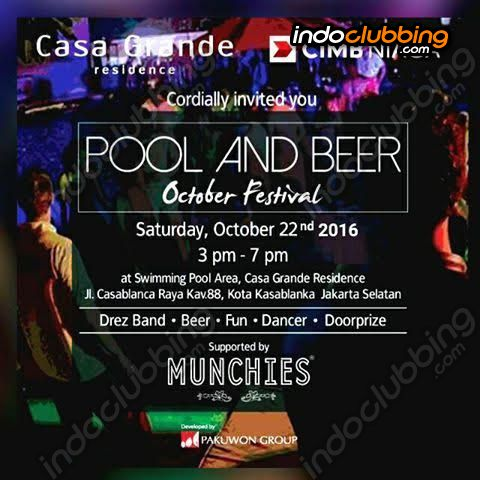 Event : Pool And Beer @ Munchies (Jakarta) - Sat 22 Oct 2016