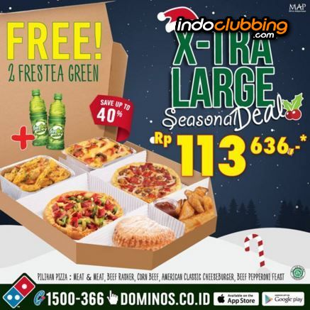 Promo Christmas Promo Domino S Pizza Jakarta Pusat Cikini