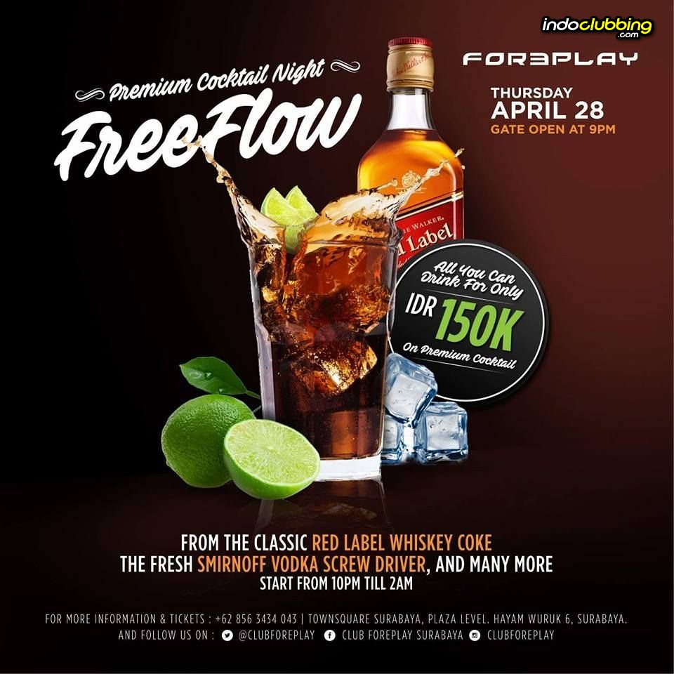 Promo Free Flow Only Idr 150 K Foreplay Club Surabaya Thu 28 Pop Hotel